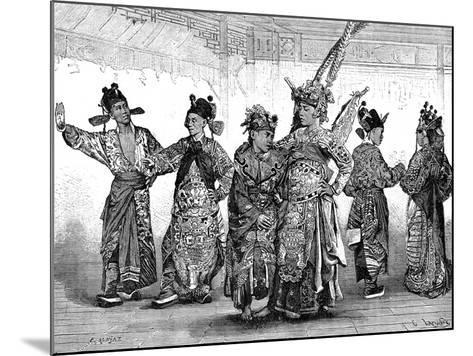 Chinese Tragedian Actors, 19th Century-C Laplante-Mounted Giclee Print