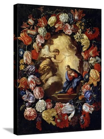 The Annunciation with Flowers, 17th or Early 18th Century-Carlo Maratta-Stretched Canvas Print
