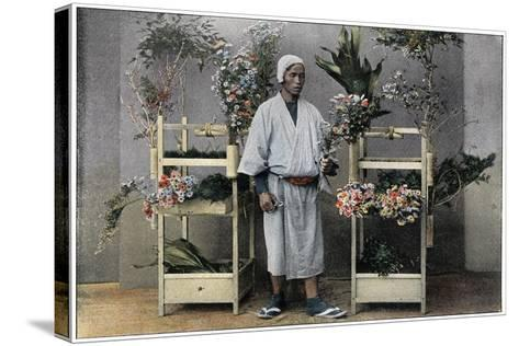 Flower Merchant in Japan, C1890-Charles Gillot-Stretched Canvas Print