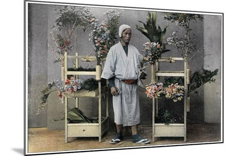 Flower Merchant in Japan, C1890-Charles Gillot-Mounted Giclee Print