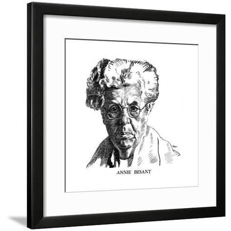 Annie Besant, British Socialist and Theosophist, 1926- Brill-Framed Art Print