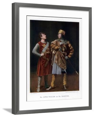 Lewis Waller and Mr Mckinnel, English Actors, 1901-British Mutoscope-Framed Art Print