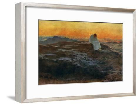 Christ in the Wilderness, 1898-Briton Riviere-Framed Art Print