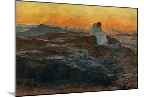 Christ in the Wilderness, 1898-Briton Riviere-Mounted Giclee Print