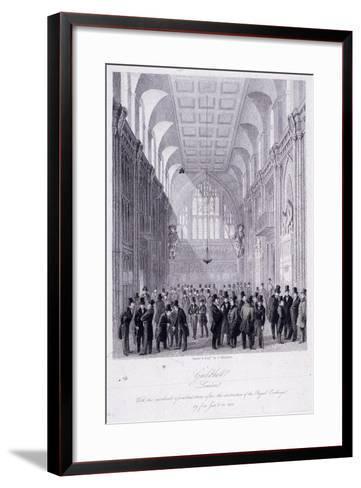 The Guildhall, London, 1838-C Matthews-Framed Art Print