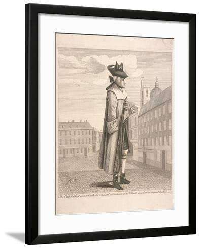 The Old Soldier Remarkable for Constant Attendance at St Paul's, C1760-C Mosely-Framed Art Print