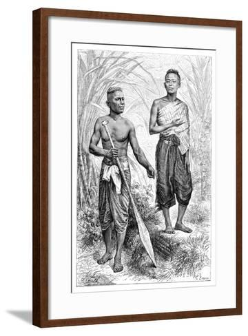 Siamese Youths, 1895-Charles Barbant-Framed Art Print