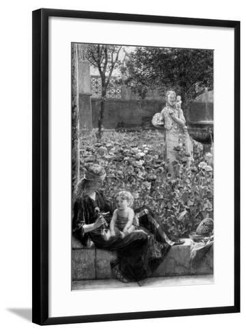 Cildish Affections, C1880-1882-Charles Olivier Murray-Framed Art Print