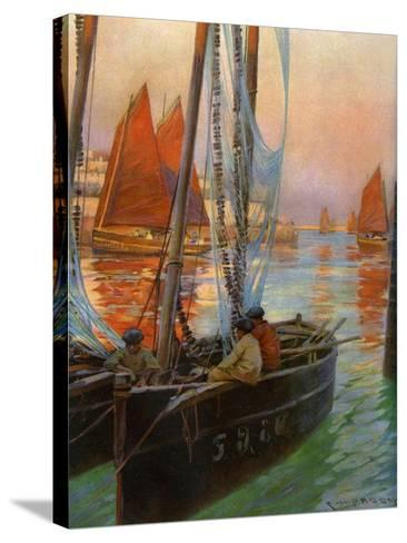 Brest Fishing Boats, 1907-Charles Padday-Stretched Canvas Print