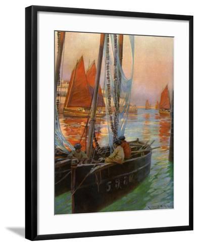 Brest Fishing Boats, 1907-Charles Padday-Framed Art Print