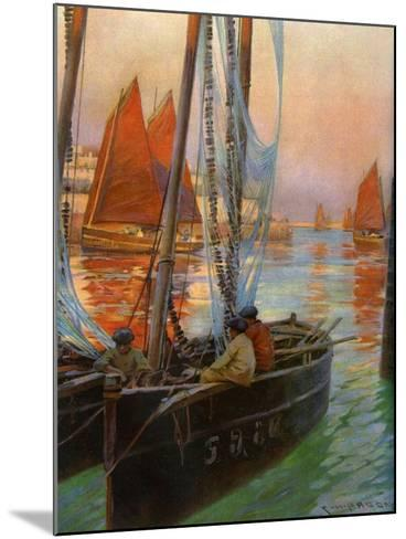 Brest Fishing Boats, 1907-Charles Padday-Mounted Giclee Print