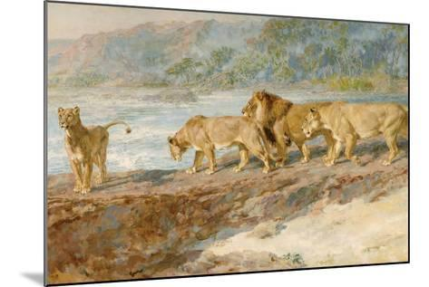 On the Bank of an African River, 1918-Briton Riviere-Mounted Giclee Print