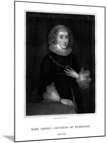Mary Sidney Herbert, Countess of Pembroke, English Literary Figure-C Picart-Mounted Giclee Print