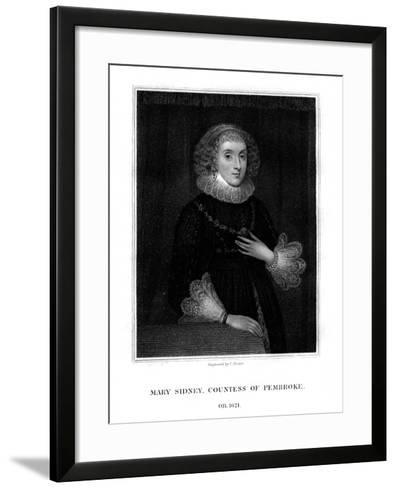 Mary Sidney Herbert, Countess of Pembroke, English Literary Figure-C Picart-Framed Art Print