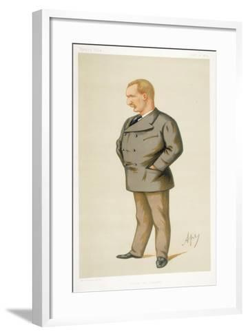 Captain Matthew Webb, First Man to Swim the English Channel, 1875-Carlo Pellegrini-Framed Art Print