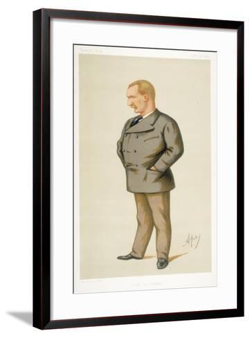 Captain Matthew Webb, First Man to Swim the English Channel, 1875-Carlo Pellegrini-Framed Art Print
