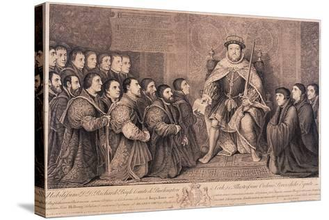 King Henry VIII Surrounded by Kneeling Figures, 1736-Bernard Baron-Stretched Canvas Print
