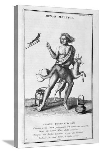 A Representation of March, 1757-Bernard De Montfaucon-Stretched Canvas Print