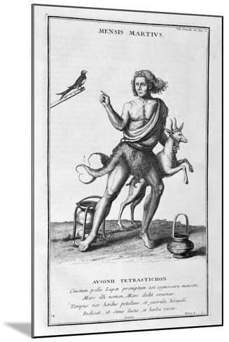 A Representation of March, 1757-Bernard De Montfaucon-Mounted Giclee Print