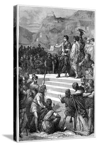 Augustus Establishes the Centre of Government of Gaul in Lyon, 28 BC-Bertrand-Stretched Canvas Print