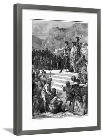 Augustus Establishes the Centre of Government of Gaul in Lyon, 28 BC-Bertrand-Framed Art Print
