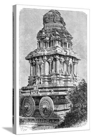 Ruins of a Temple in Hampi, India, 1895-Bertrand-Stretched Canvas Print