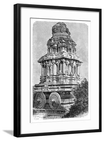 Ruins of a Temple in Hampi, India, 1895-Bertrand-Framed Art Print