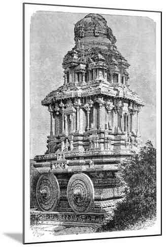 Ruins of a Temple in Hampi, India, 1895-Bertrand-Mounted Giclee Print
