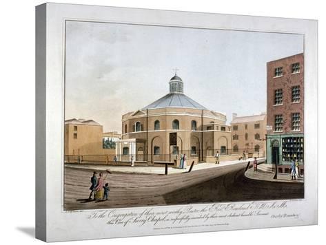 Surrey Chapel, Blackfriars Road, Southwark, London, 1816-C Rosenberg-Stretched Canvas Print