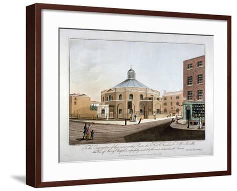 Surrey Chapel, Blackfriars Road, Southwark, London, 1816-C Rosenberg-Framed Art Print
