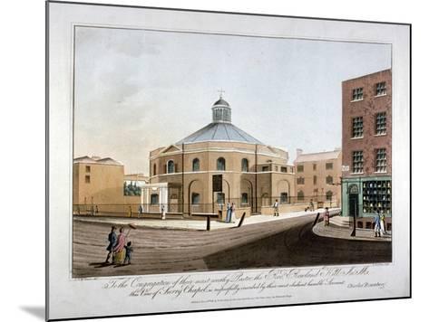 Surrey Chapel, Blackfriars Road, Southwark, London, 1816-C Rosenberg-Mounted Giclee Print