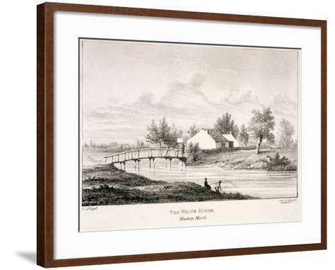 The White House on the Banks of the River Lea, Hackney Marsh, London, C1830-Charles Bigot-Framed Art Print