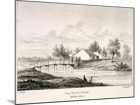 The White House on the Banks of the River Lea, Hackney Marsh, London, C1830-Charles Bigot-Mounted Giclee Print