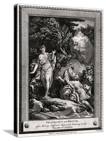 Telemachus and Mentor, after Having Suffered a Shipwreck, Arrive at the Island of Calypso, 1774-Charles Grignion-Stretched Canvas Print