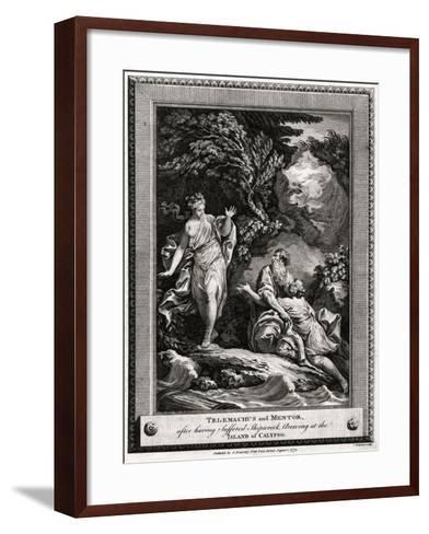 Telemachus and Mentor, after Having Suffered a Shipwreck, Arrive at the Island of Calypso, 1774-Charles Grignion-Framed Art Print