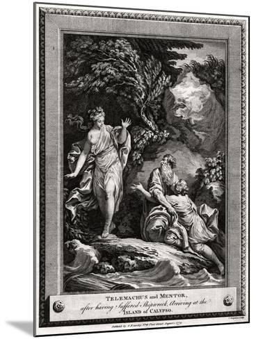 Telemachus and Mentor, after Having Suffered a Shipwreck, Arrive at the Island of Calypso, 1774-Charles Grignion-Mounted Giclee Print