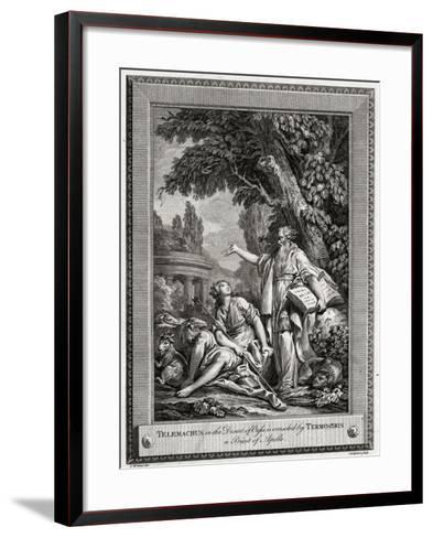 Telemachus, in the Desert of Oasis, Is Consoled by Termosiris a Priest of Apollo, 1774-Charles Grignion-Framed Art Print
