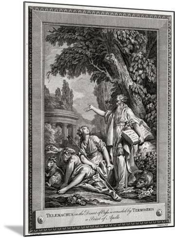 Telemachus, in the Desert of Oasis, Is Consoled by Termosiris a Priest of Apollo, 1774-Charles Grignion-Mounted Giclee Print