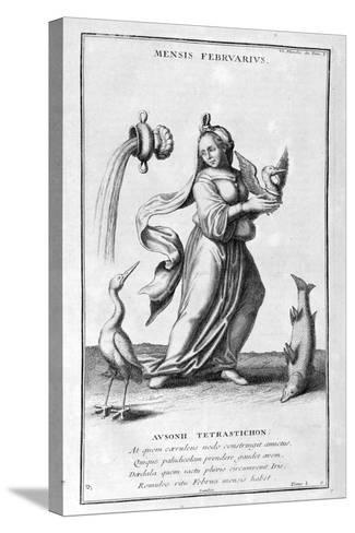 A Representation of February, 1757-Bernard De Montfaucon-Stretched Canvas Print
