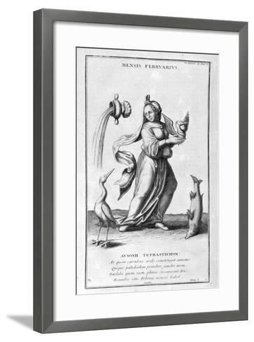 A Representation of February, 1757-Bernard De Montfaucon-Framed Art Print
