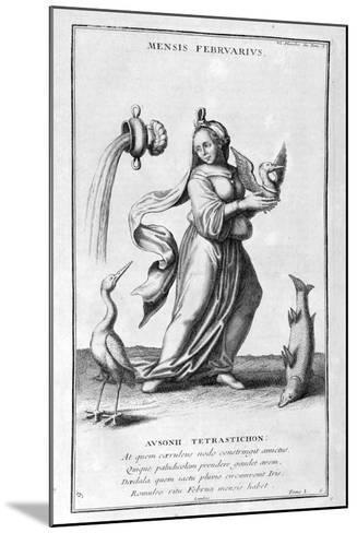 A Representation of February, 1757-Bernard De Montfaucon-Mounted Giclee Print