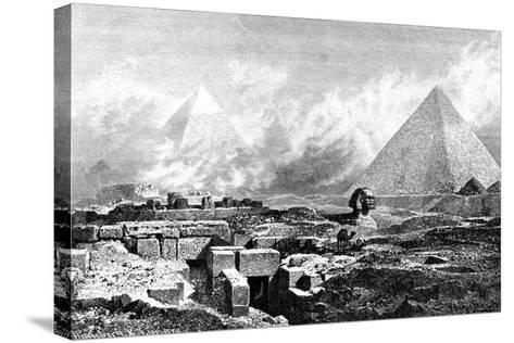 The Sphinx and Pyramids, Egypt, 1880-BH Fiedlen-Stretched Canvas Print