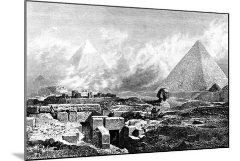 The Sphinx and Pyramids, Egypt, 1880-BH Fiedlen-Mounted Giclee Print