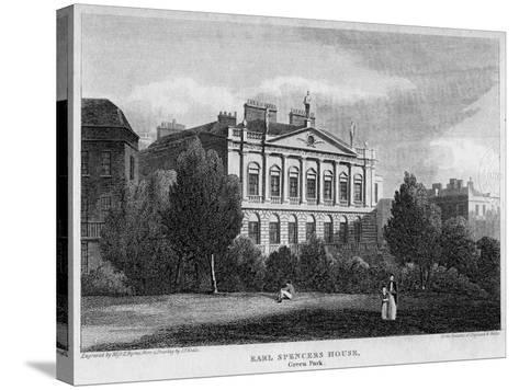 Earl Spencer's House, Green Park, Westminster, London, 1815- Byrne-Stretched Canvas Print