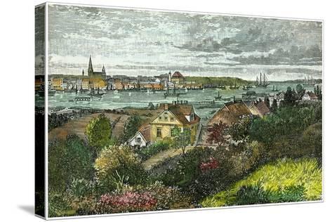 Kiel, Germany, C1875-Carrera-Stretched Canvas Print