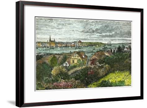 Kiel, Germany, C1875-Carrera-Framed Art Print