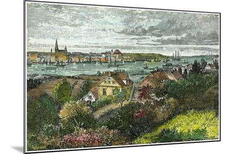 Kiel, Germany, C1875-Carrera-Mounted Giclee Print