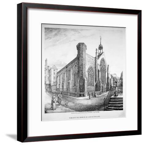 Austin Friars, City of London, 1823-Charles Burton-Framed Art Print