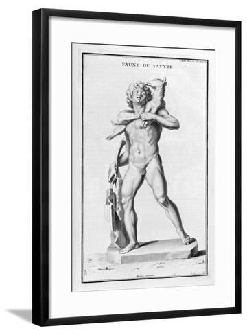 Faun or Satyr, after a Roman Statue, 1757-Bernard De Montfaucon-Framed Art Print