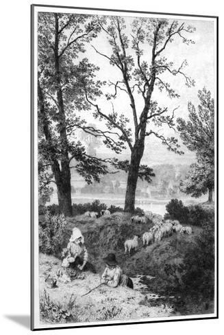 The Little Shepherds, C1930S-Birket Foster-Mounted Giclee Print